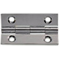 Wickes Butt Hinge Solid Brass Chrome 38mm 2 Pack