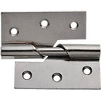 Wickes Rising Butt Hinge Left Hand 76mm Chrome Plated 2 Pack
