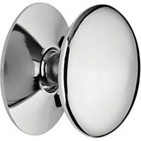 Wickes Victorian Knob Chrome 38mm 4 Pack