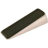 Wickes Decorative Door Wedge - Polished Chrome 120 x 39 x 29mm