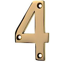 Wickes Door Number 4 - Brass