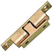 Wickes Double Ball Catch Brass 51mm 2 Pack