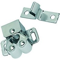 Wickes Double Roller Catch Chrome Plated 10 Pack