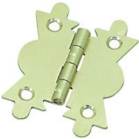 Wickes Butterfly Cabinet Hinge Electro Brass 51mm 2 Pack