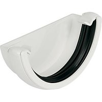 Click to view product details and reviews for Floplast Re1w Round Line Gutter External Stopend White.