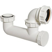 Wickes 40mm Low Level Bath Trap Plug & Overflow