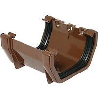 Click to view product details and reviews for Floplast Rus1br Square Line Gutter Union Bracket Brown.