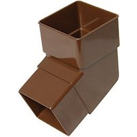 Click to view product details and reviews for Floplast Rbs2br Square Line Downpipe Offset Bend Brown 1125 Deg X 65mm.