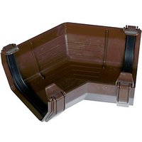 Click to view product details and reviews for Floplast Ras2br Square Line Gutter 135 Deg Angle Brown.