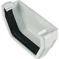 Click to view product details and reviews for Floplast Res1w Square Line Gutter External Stopend White.