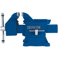 Irwin Workshop Vice with Anvil 3-1 - /8in/80mm