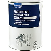 Wickes Metal & Concrete Bitumen Paint 5L