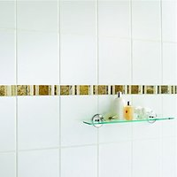 Click to view product details and reviews for Wickes Midas Beige Natural Stone Border Tile 296 X 48mm.