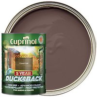 'Cuprinol 5 Year Ducksback Matt Shed & Fence Treatment - Forest Oak 5l
