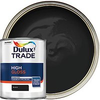Dulux Trade High Gloss Paint - Black 1L