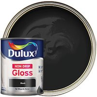 Dulux Non-Drip Gloss Paint - Black 750ml