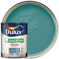 Dulux Quick Dry Gloss Paint - Proud Peacock 750ml