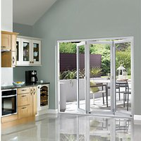 Wickes Burman Finished Folding Patio Door White 6ft Wide Reversible