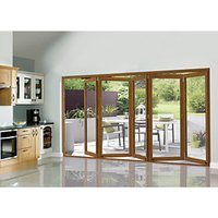 Wickes Eden Oak Veneer Folding Patio Doorset 12ft Wide Reversible