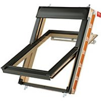 Keylite Pine Centre Pivot Roof Window with Frosted Glazing - 780 x 1180mm