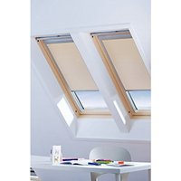Wickes Roof Window Blinds Sand 761 x 1351mm