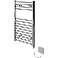 Kudox Flat Electric Towel Radiator   Chrome 400 x 700 mm