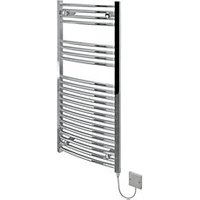 Kudox Curved Electric Towel Radiator   Chrome 500 x 1100 mm