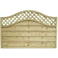 Forest Garden Pressure Treated Bristol Fence Panel - 6 x 4ft Pack of 5
