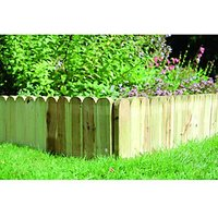 Wickes Dome Top Timber Border Edging - 230 x 1000 mm