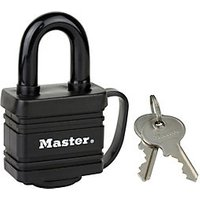 Master Lock 7804EURD Weather Tough Laminated Steel Black Padlock 40mm