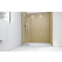 Wickes Sand Stone Laminate 900x900mm 2 sided Shower Panel Kit
