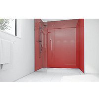 Wickes Crimson Acrylic 1700x900mm 3 sided Shower Panel Kit