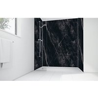 Wickes Black Calacatta Laminate 3 sided Shower Panel Kit 900mm x 900mm