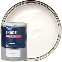 Wickes Trade High Gloss Paint - Pure Brilliant White 5L