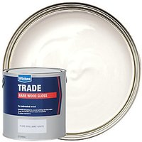 Wickes Bare Wood Gloss Paint - Pure Brilliant White 2.5L