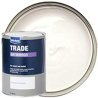 Wickes Satinwood Paint - Pure Brilliant White 5L