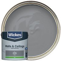 Wickes Colour @ Home Vinyl Silk Emulsion Paint - Slate 2.5L