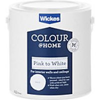 Wickes Colour @ Home Pink to White Emulsion Paint - 2.5L