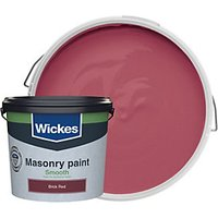 Wickes Smooth Masonry Paint - Brick Red 5L