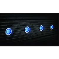 Wickes Blue LED Deck Lights Extension Kit 45mm 1W - Pack of 4