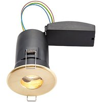Wickes Brass LED Fire Rated IP65 Bathroom Downlight - 6W