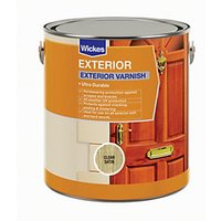 Wickes Exterior Varnish - Clear Satin 750ml