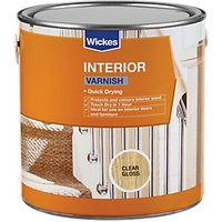 Wickes Quick Drying Interior Varnish - Clear Gloss 750ml