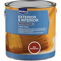 Wickes Quick Drying Woodstain - Red Mahogany 2.5L