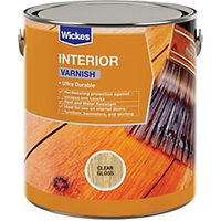 Click to view product details and reviews for Wickes Interior Varnish Clear Gloss 750ml.