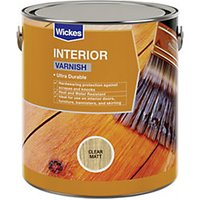 Click to view product details and reviews for Wickes Interior Varnish Clear Matt 750ml.