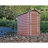 Palram Skylight Amber Shed - 4 x 6 ft