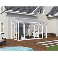 Palram San Remo Lean-To Conservatory White - 2950 x 4300 mm