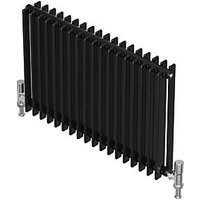 QRL Adagio Horizontal Multi-Column Designer Radiator - Black Quartz 400 x 980 mm