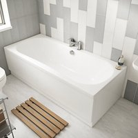 Wickes Avaris Enamel Coated Steel Double Ended Bath - 1800mm x 800mm